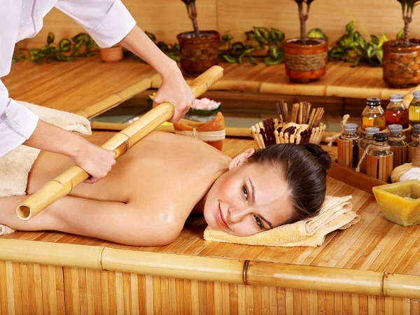 Image Represents the Hot Bamboo massage.
